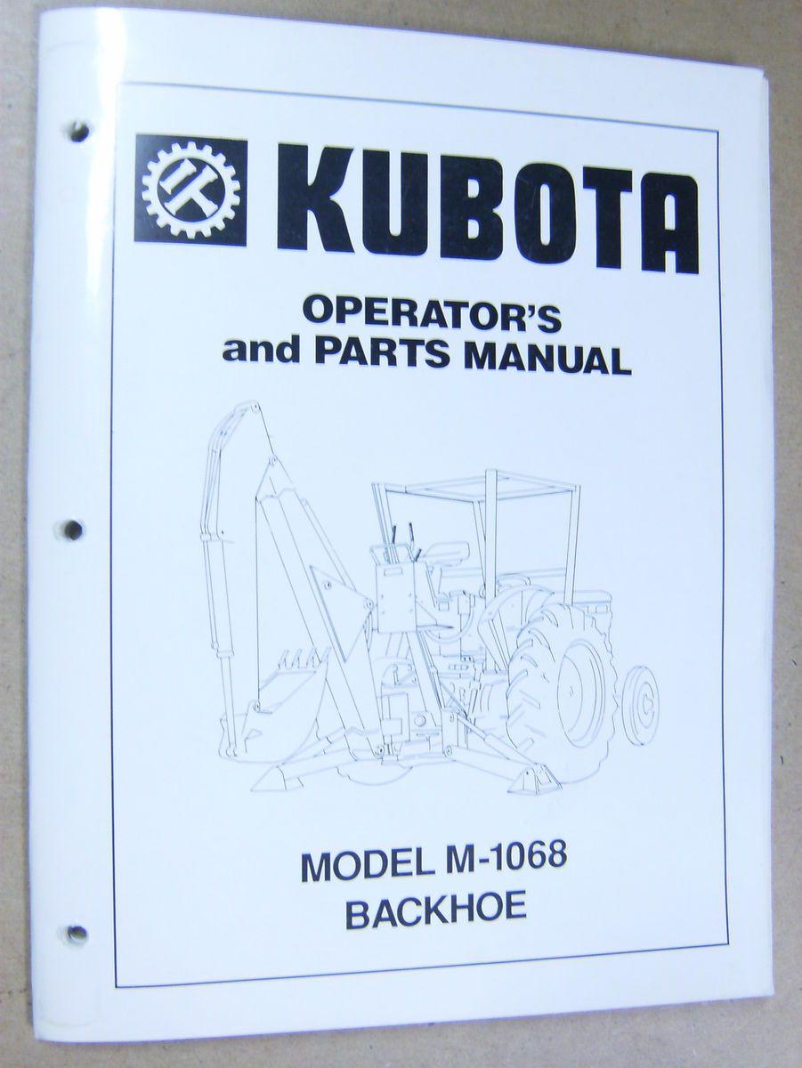 kubota tractor parts manual
