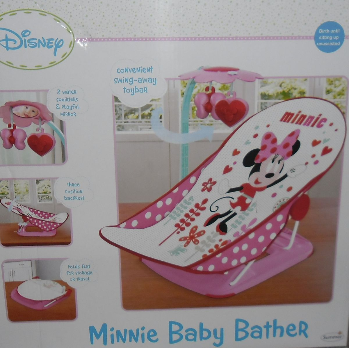 Disney Minnie Mouse Baby Bath Tub Bather Bathtub New