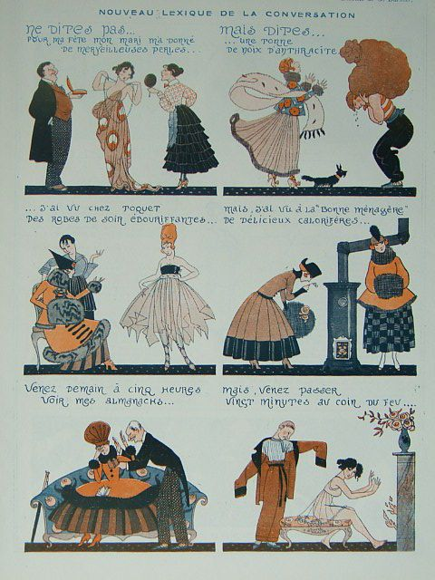 Art Deco Original Print Vie Parisienne 1917 G Barbier