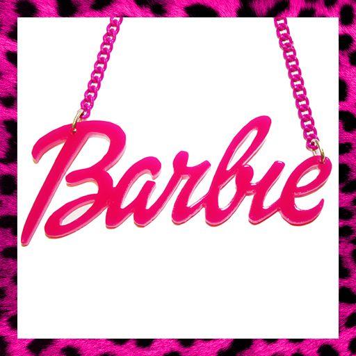 Barbie Necklace Pink Nicki Minaj Doll Fancy Dress Retro Choose Your