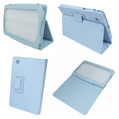 I2 Blue Stand Smart Leather Case Cover for Lenovo IdeaPad A1 7 inch