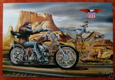 David Mann *Full Sized* GHOSTRIDER Poster 1980s NOS Biker on