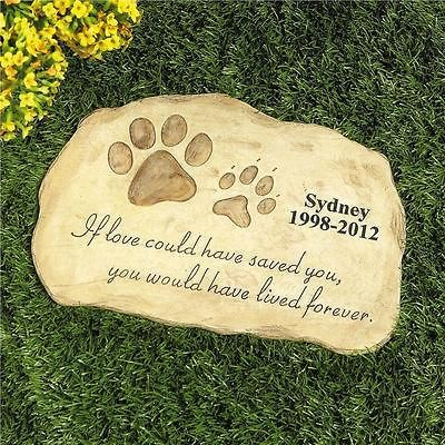 Personalized Pet Memorial Stone Garden Monument Cemetery Grave Dog Cat
