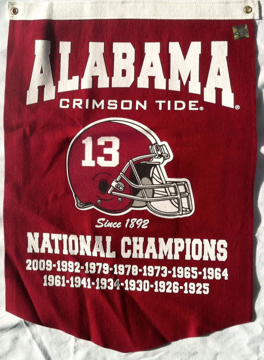 Alabama Crimson Tide Football 2009 National Championship Banner
