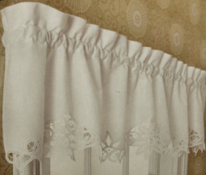 New Battenburg Lace Vintage Cottage 16 Rod Curtains Valance Panels