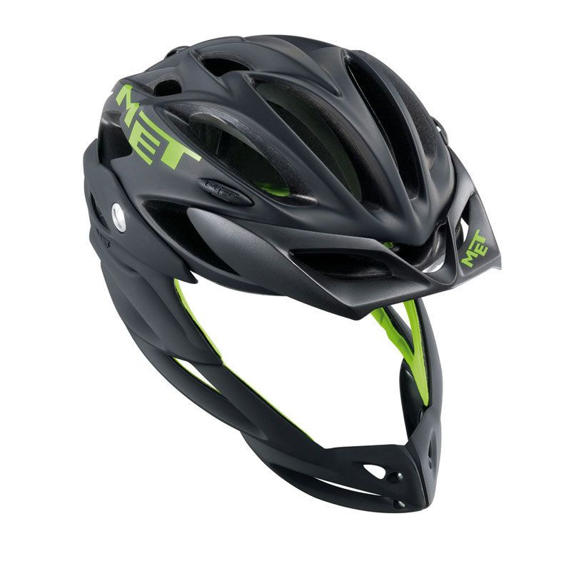 2012 MET Parachute Full Face Mountain Bike Helmet Black Medium NR
