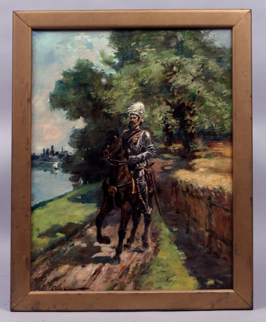 Listed American Antique Impressionist Oil Painting Paul Bernard King