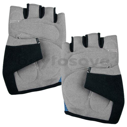Bicycle Bike Cycling Sports Blue Half Finger Gloves L