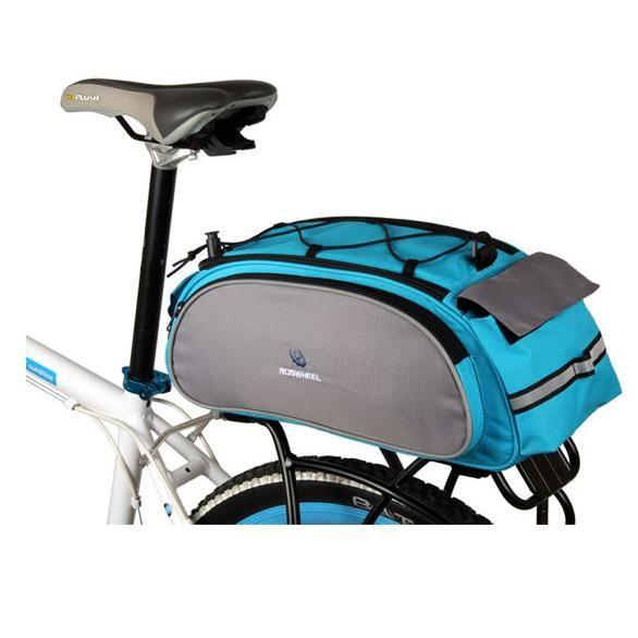 Bicycle Bike Cycling Roswheel Rear Seat Bag Pannier 13 L Blue