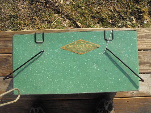 Preway Auto Ice Box Cooler Vintage camper Trailer Camping Travel 1920s