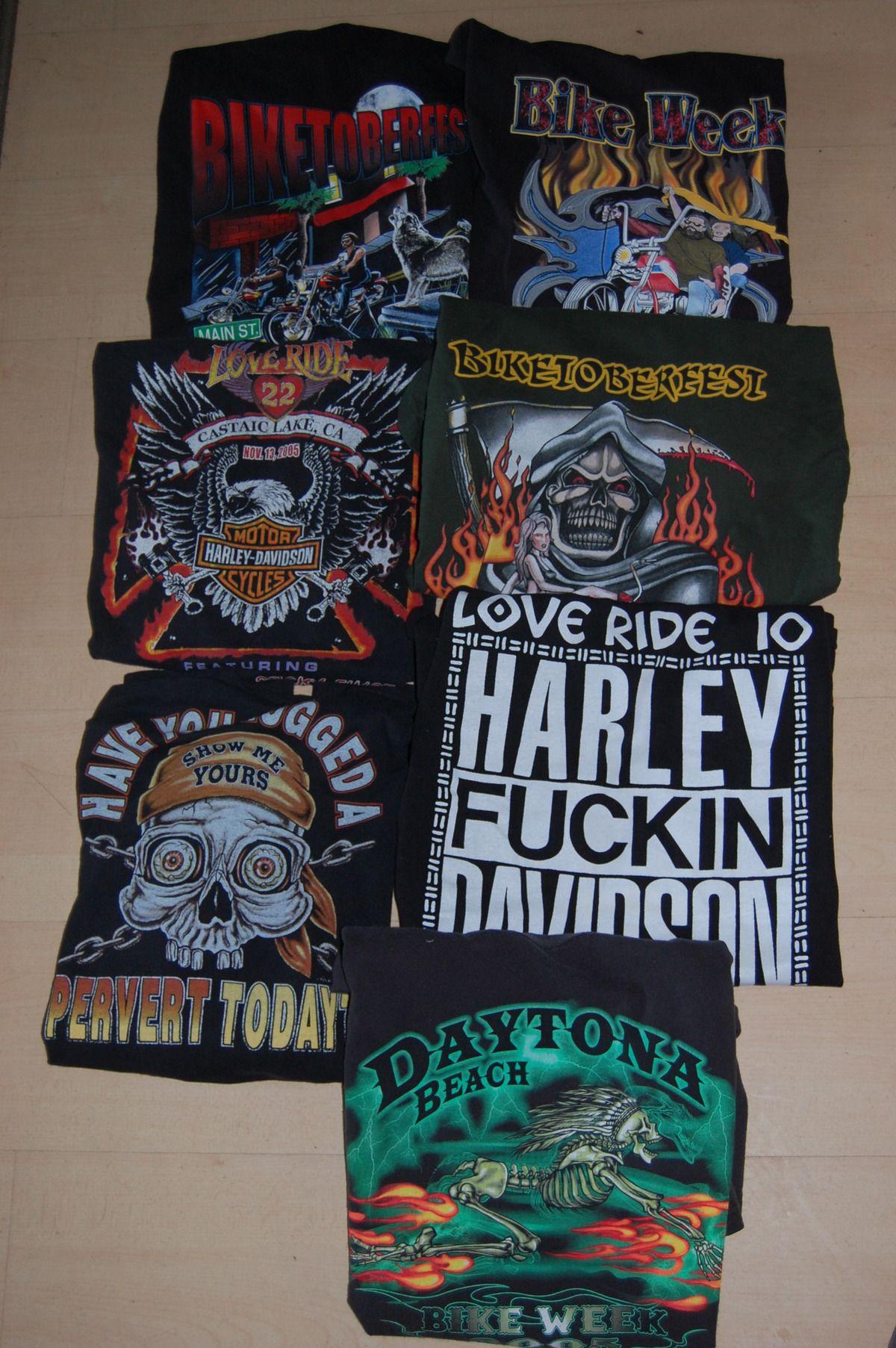 Vintage Soft Harley Davidson Bike Week T Shirts Long Sleeve XL