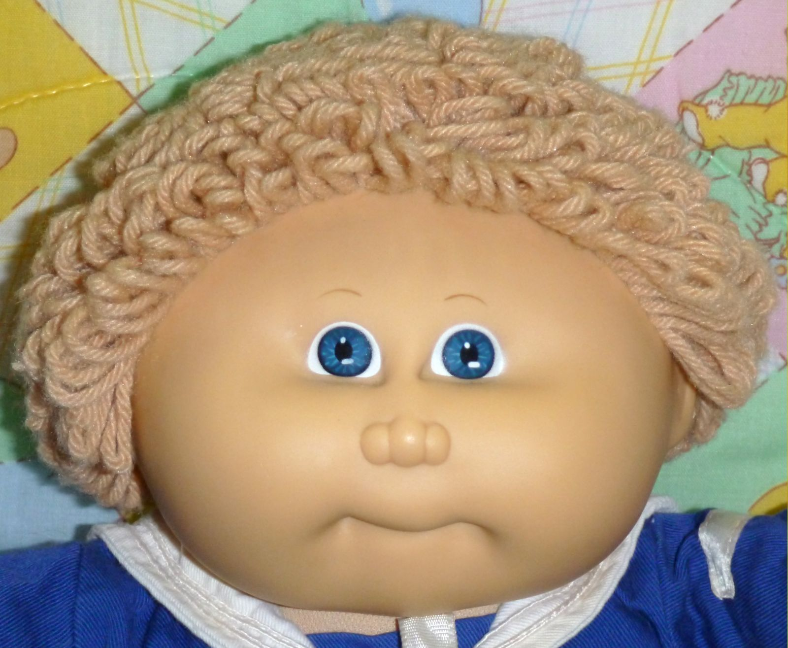 Original Cabbage Patch Kids Boy Doll Blue eyes Sailor clothes outfit