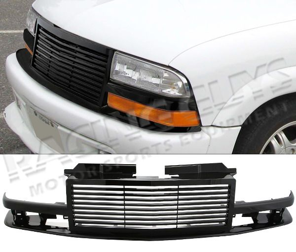 1998 2002 CHEVY S10 BLAZER PICK UP TRUCK ABS BLACK BILLET STYLE GRILLE