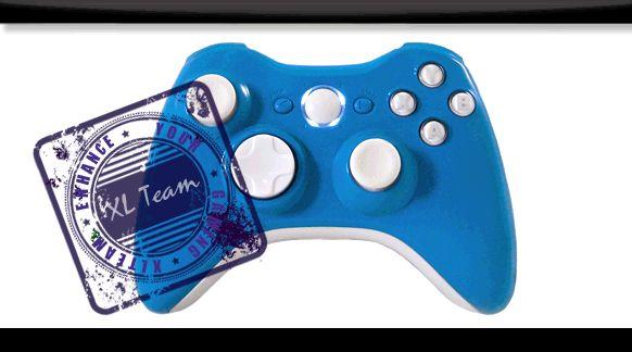 Fire Blue Modded Controller Gow Gears 3 Cod MW2 Black Ops MW3