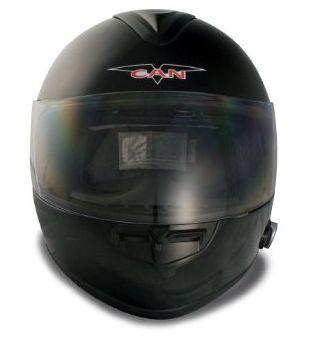Bluetooth Full Face Motorcycle Helmet Black 2 Speaker L