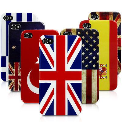 flag design back case cover for apple iphone 4 4s various countries
