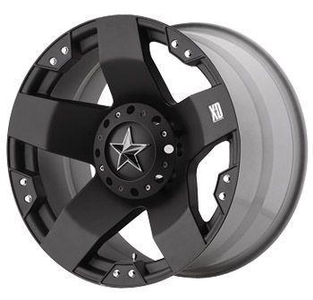24 XD 775 Rockstar Offroad Black Truck Rims Wheels Tires