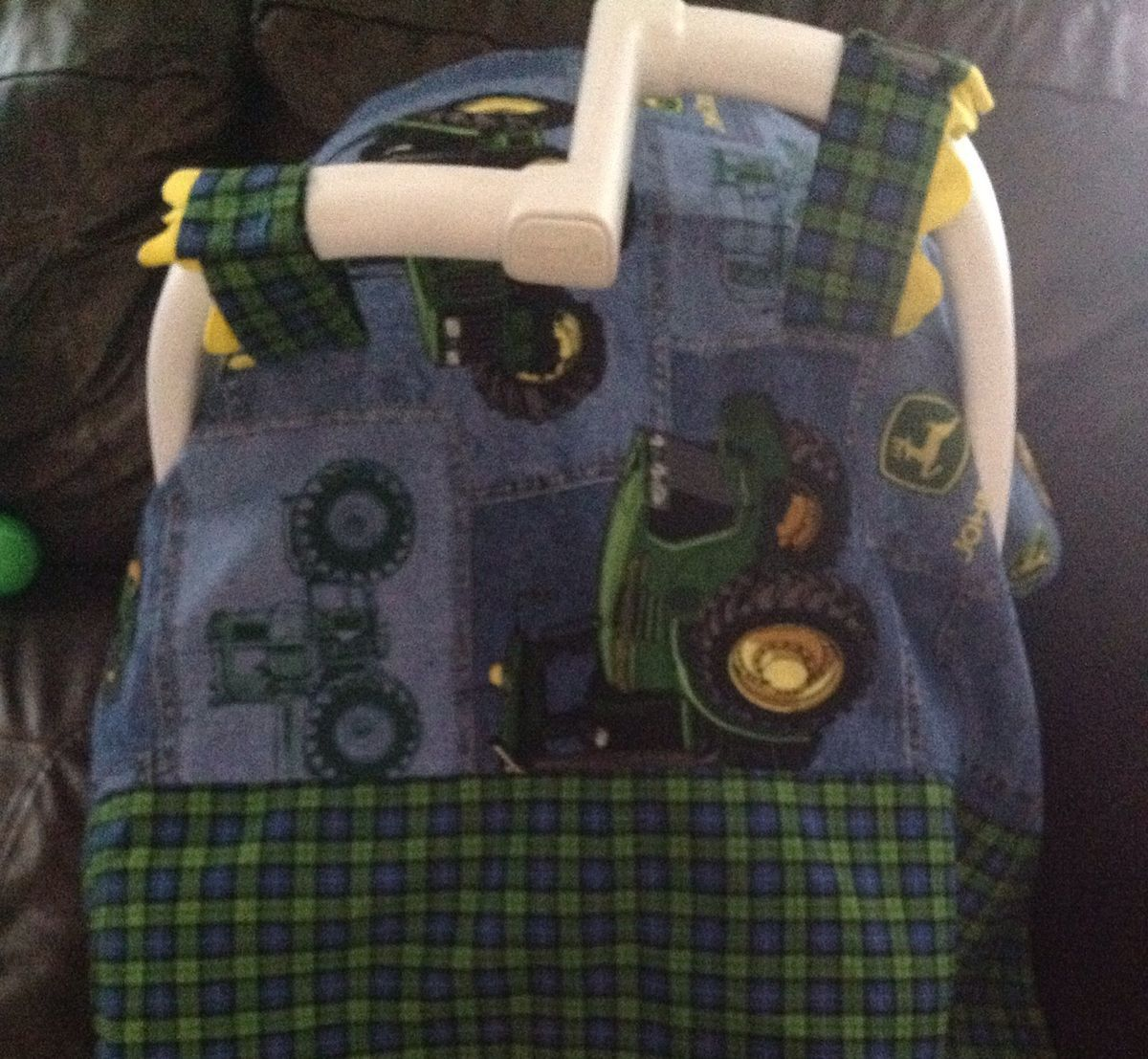John Deere Car Seat Covers : Baby boy john deere infant car seat cover for
