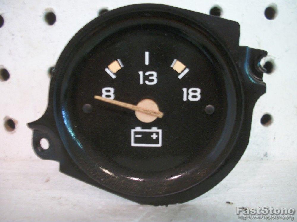 Chevy GMC Pickup Truck Interior Dash Volt Voltmeter Battery Gauge