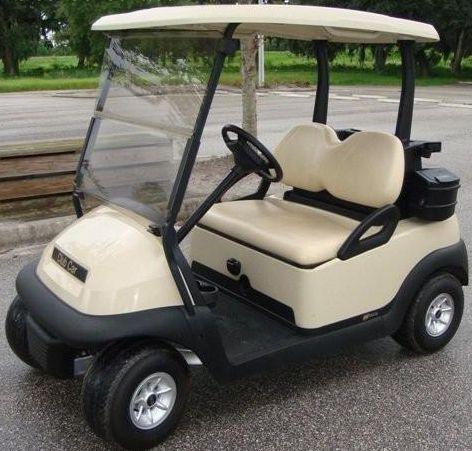 Club Car Precedent Golf Cart Seat Back Cushion Tan Beige