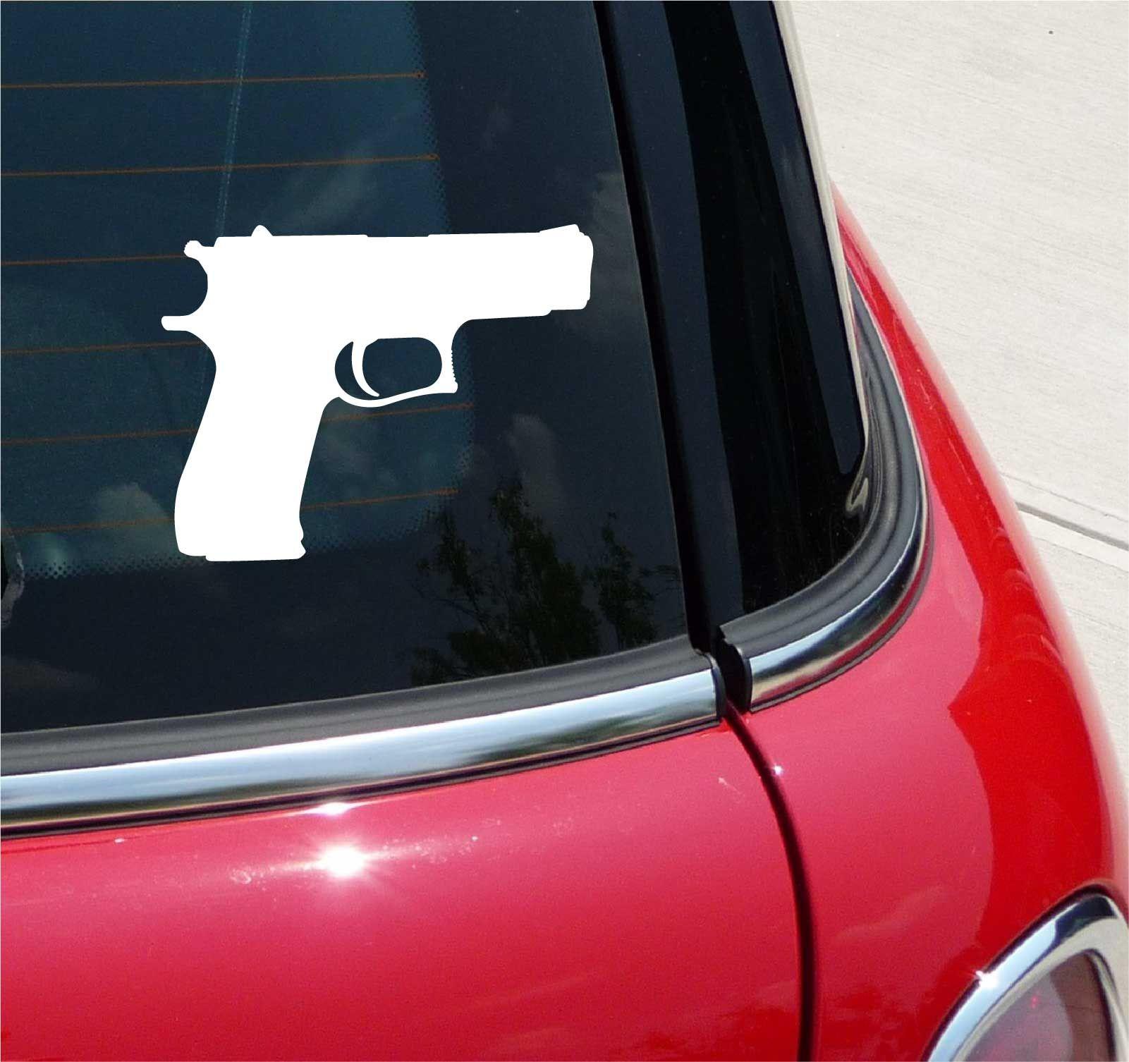 Colt 45 Pistol Caliber Handgun Graphic Decal Sticker Vinyl Car Wall
