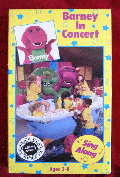 BARNEY IN CONCERT VHS VIDEO SING ALONG AND THE BACKYARD GANG - Barney backyard gang concert vhs
