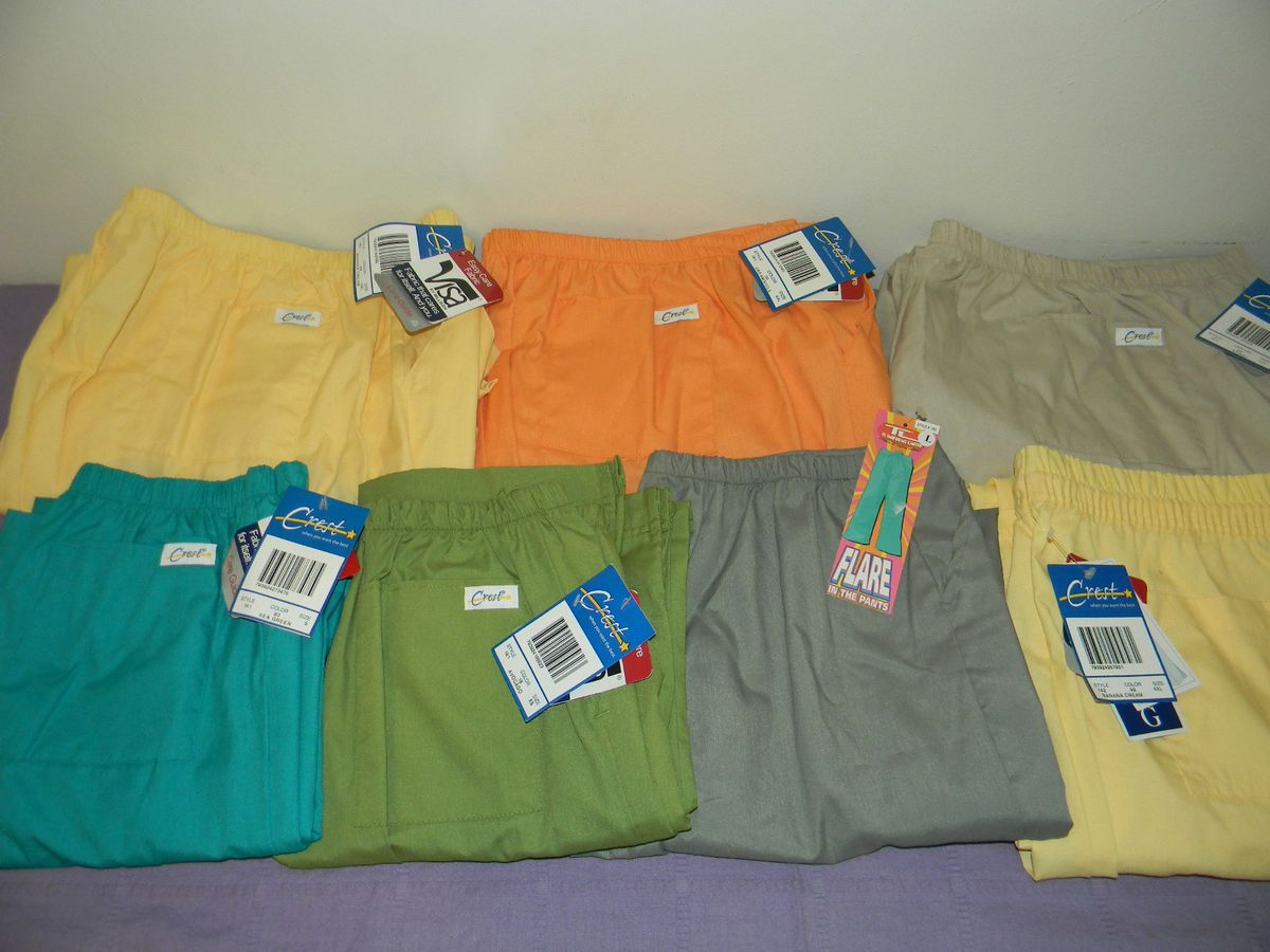 Unisex New Crest and Topline Uniforms Scrub Pants Mutiple Colors and