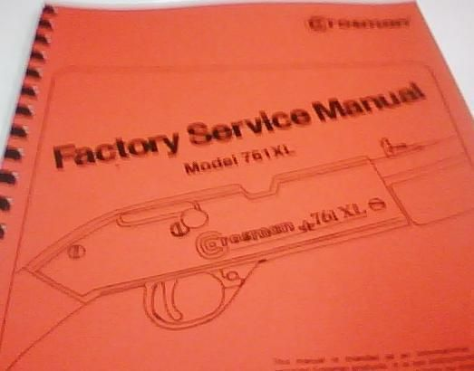 Crosman Model 761XL Rifle Factory Service Gun Manual Repair