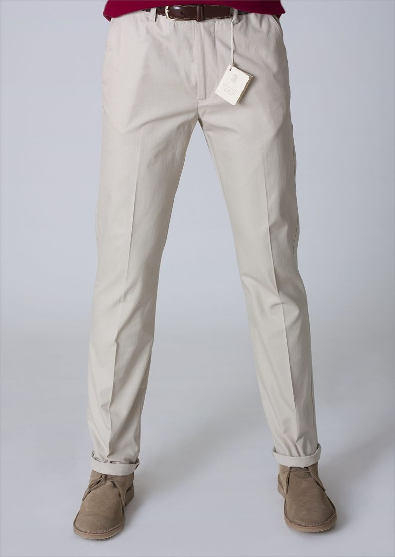 650 BRUNELLO CUCINELLI PANTS 32 US 48 Euro BEIGE NEW NWT CARGO CHINO