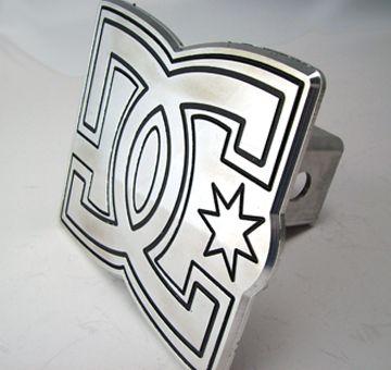Trailer Hitch Cover DC Shoes Logo Aluminum Skateboard