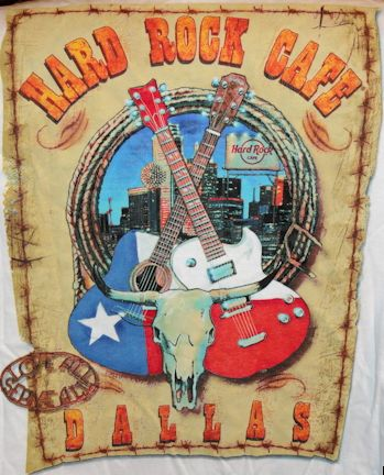 Hard Rock Cafe HRC DALLAS 2010 White City Tee T SHIRT New w/ Tags XL