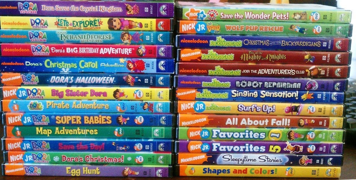 Huge Nick Jr DVD Lot Dora Diego Backyardigans Wonder Pets