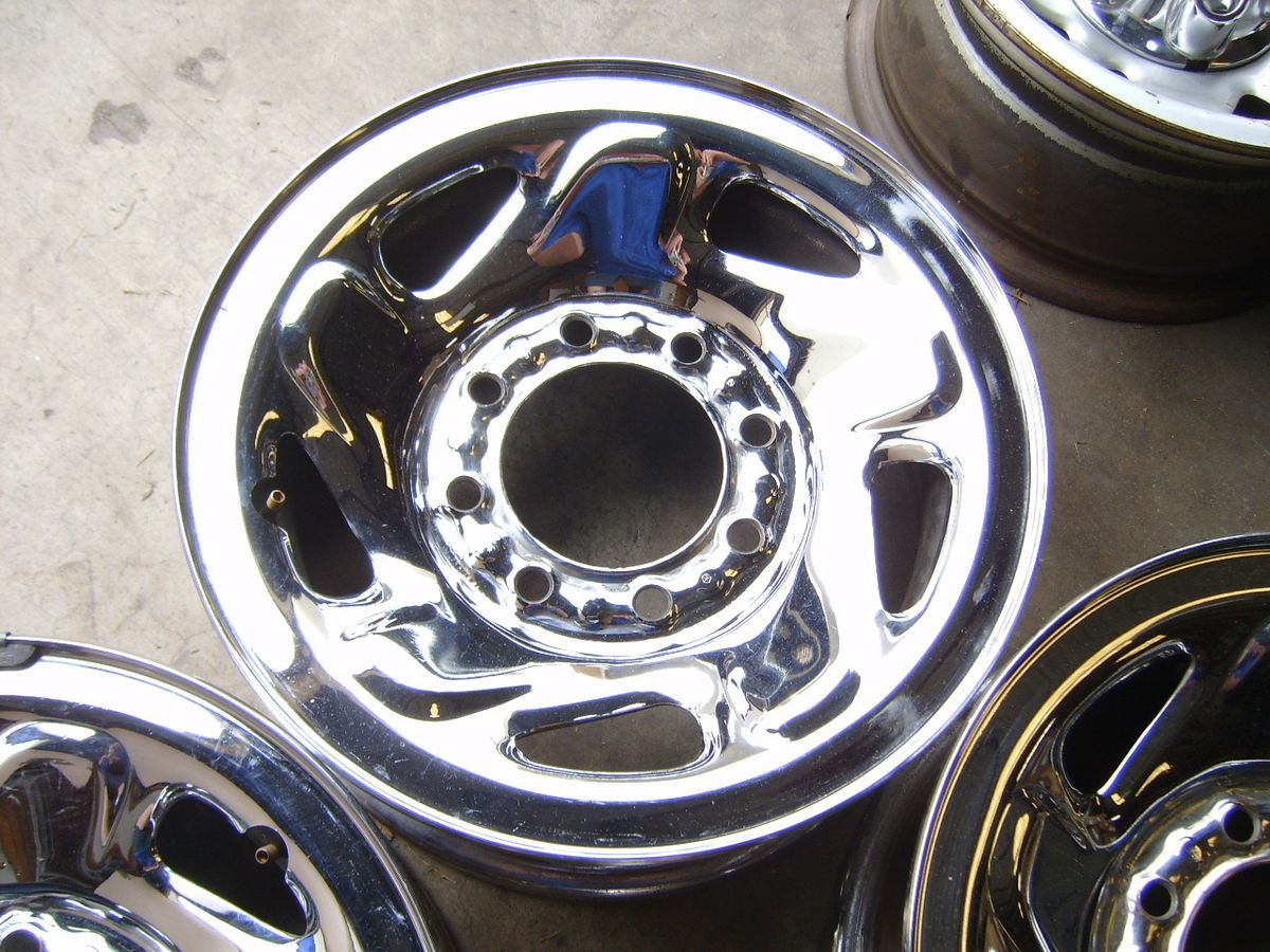 Dodge Ram Truck Van 8x6 5 chrome steel wheels rims Chevy 2500 3500