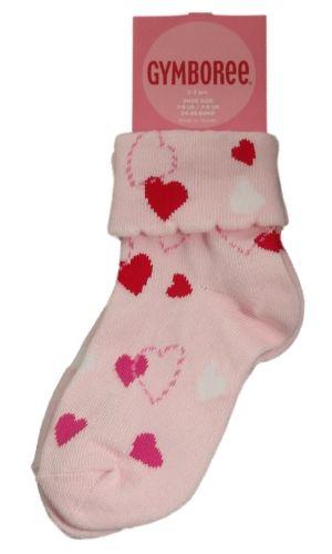 Gymboree Valentines Day Pink Heart Socks 2 3 Girls