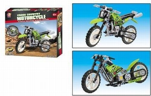 Dirt Bike Motorcycle Construction Toy and Chopper Street Bike set