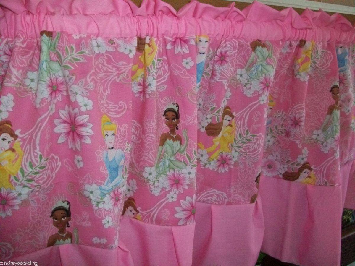 disney princess pink window treatment curtain valance girls bed bath