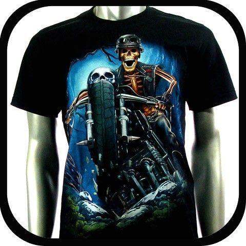 Rock Eagle T Shirt Limited Edition Biker RE93 Sz XL Tattoo Skull