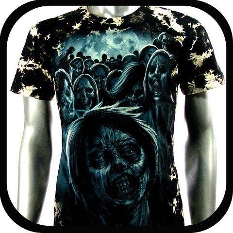 Rock Eagle T Shirt Biker Street Devil Tattoo RE36 Sz L Punk Indie