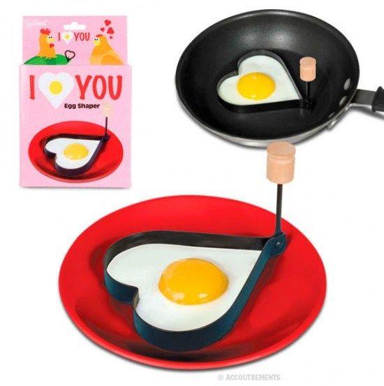 Love You Egg Shaper Heart Gift Valentine geeky Retro