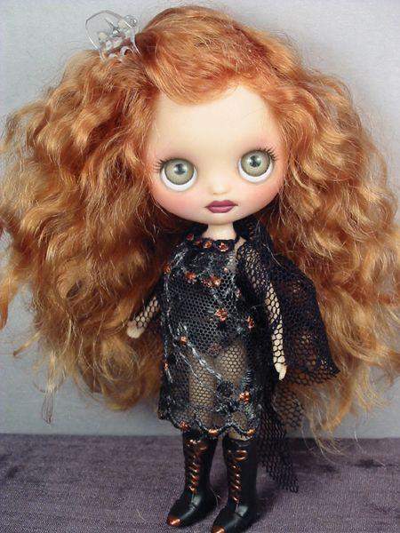 Dyan   OOAK custom Blythe mohair dressed doll repaint petite by Ellen