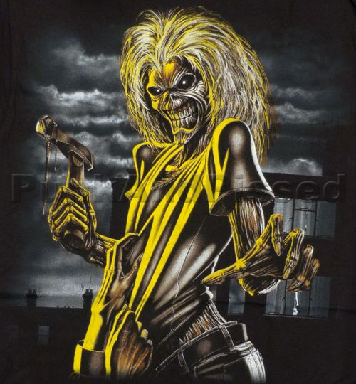Iron Maiden Killers Eddie Huge Print T Shirt Official Fast SHIP
