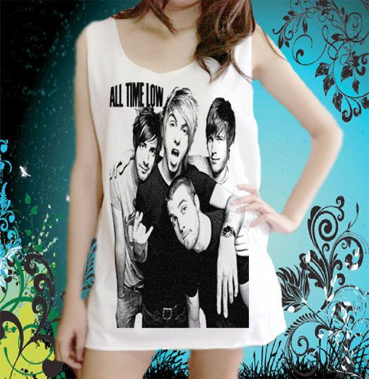 All Time Low Pop Punk Band Music Emo Tattoo Unisex Tank Top Free Size