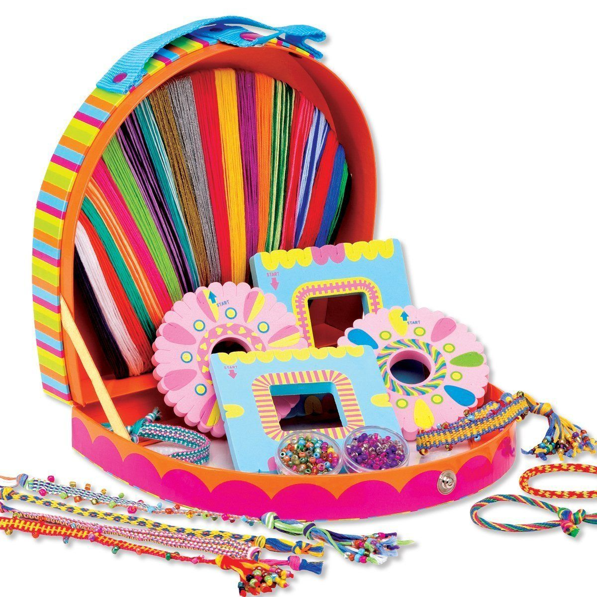 Friends 4 Ever Friendship Bracelet Making Kit w Colorful Carrying Case