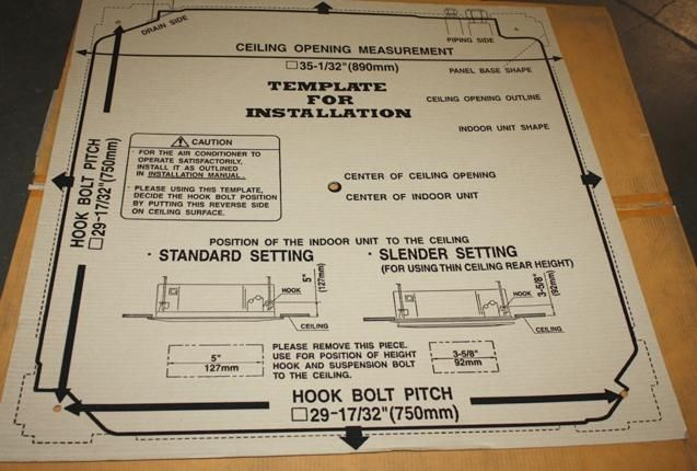 Fujitsu 34K 36K BTU Mini Split Indoor Unit AUU36RCLX