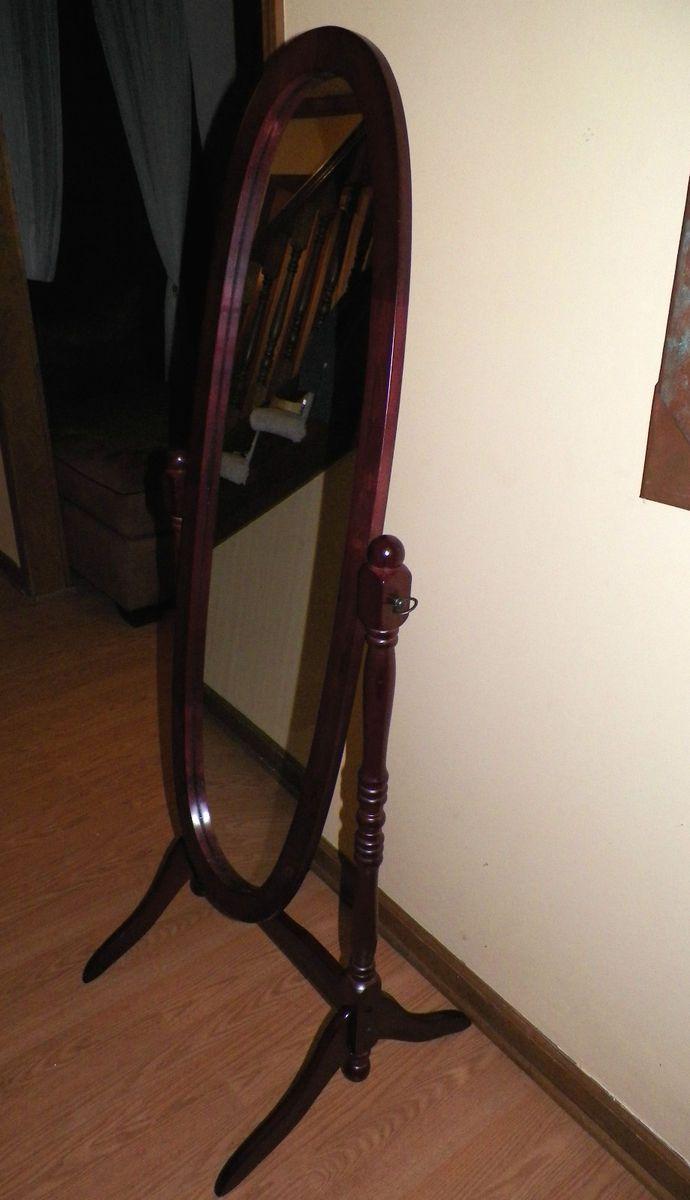 Full Length Tilting Oval Free Standing Bedroom Floor Dressing Mirror
