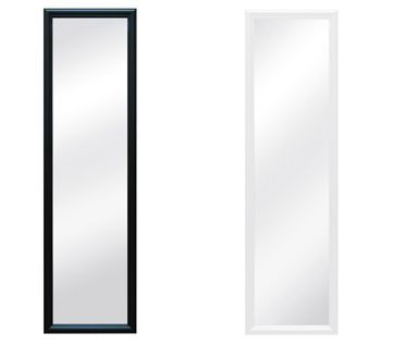Over The Door Full Length Hanging Mirror Black or White