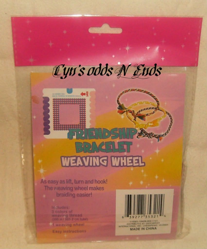 Create Your Own Friendship Bracelet Weaving Wheel Kit