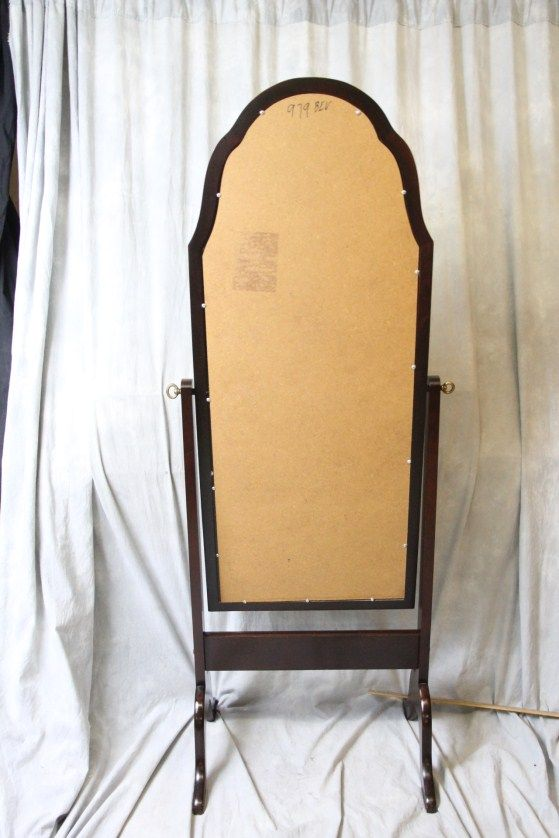 L541 Full Length Mahogany Beveled Edge Glass Cheval Mirror