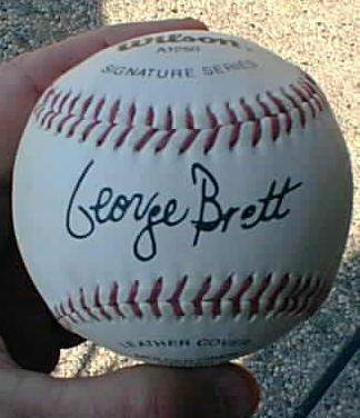 George Brett Wilson Signature Series Autographed Baseball