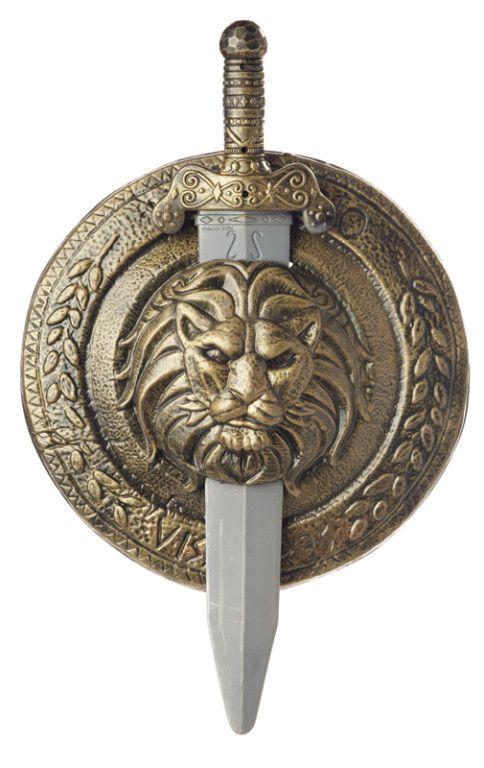 Roman Gladiator Greek Medieval Cosplay Sword and Shield